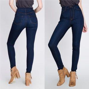 Denim - High-rise skinny jeans